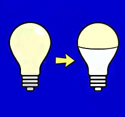 Reduce Energy Consumption- Switch Incandescent Light Bulbs to LED Light Bulbs